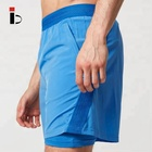 OEM 4-way stretch training custom mens gym shorts with pockets