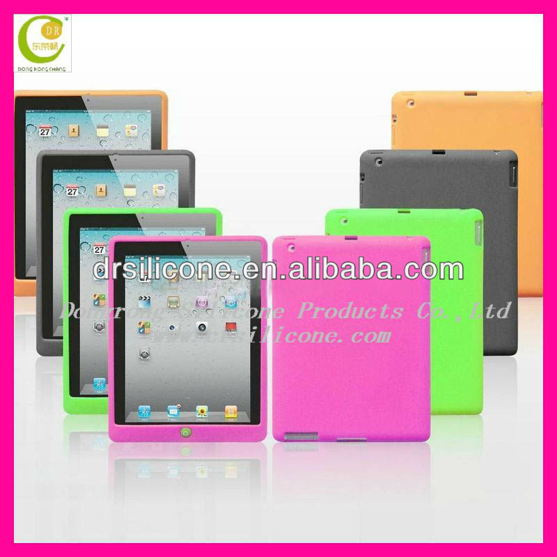 New fashion light weight laptop anti-collision computer protection unit-color silicone case for <strong>ipad</strong>,back cover for <strong>ipad</strong> mini