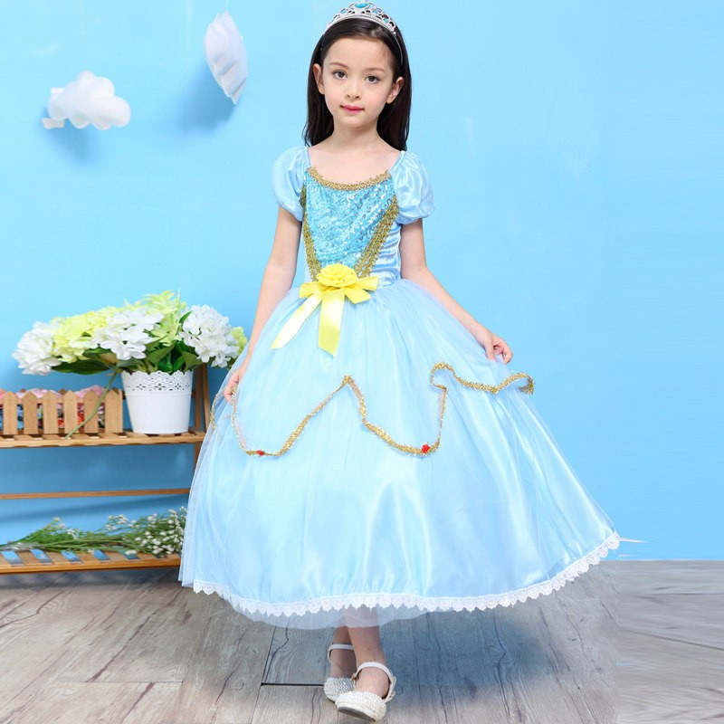 Princess Style Dress Girls Fancy Party Dress Elegant Girls Dress ...