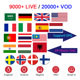 USA IPTV M3u Subscription Albania Thailand Turkey Sweden Nordic Portugal Spain Philippines Vietnam channels Android TV Box MAG