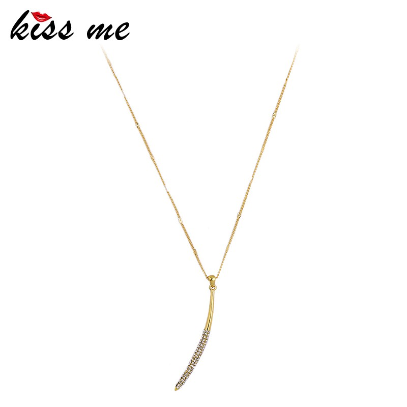 Nickel Free Simple Thin Gold Chain Sweet Girls All Match Pendant ...