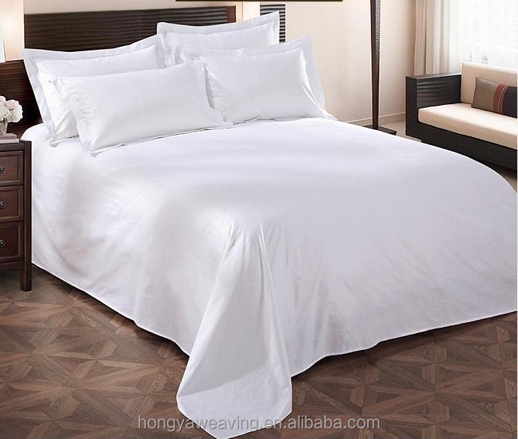 सस्ते कपास सादे होटल बिस्तर फ्लैट शीट/चादरें