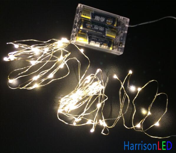 Invisible Small Battery Operated Pathway Light Led Patio String Lights