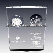 Noble Globe Crystal Clock Souvenir