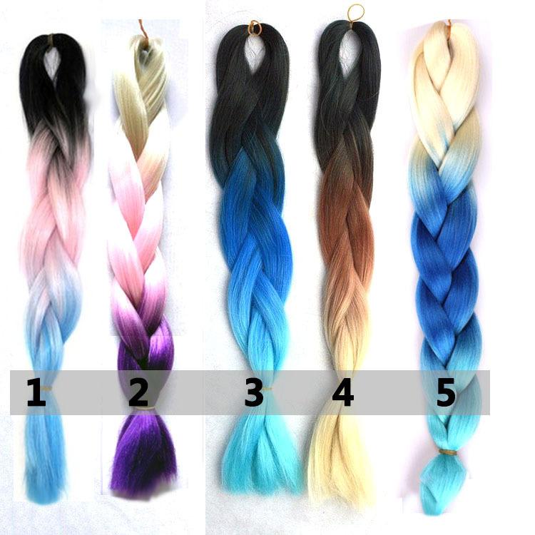 Buy Free Shipping Ombre Braiding Hair 3 Toned Colour Kanekalon Jumbo