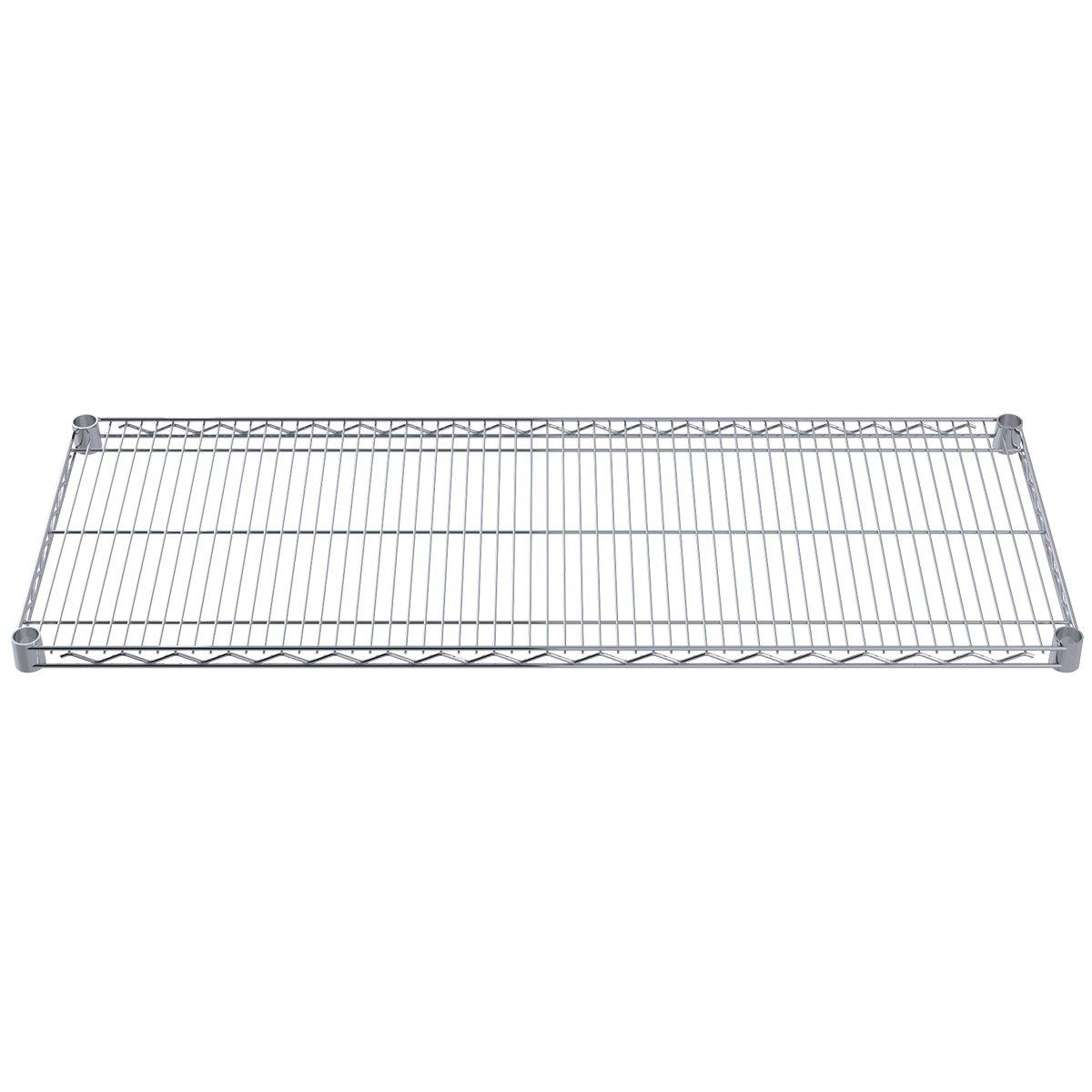 Akro-Mils AWS1848SHELF 18-Inch X 48-Inch NSF Approved Industrial Grade Chrome Wire Shelf, 4-Pack