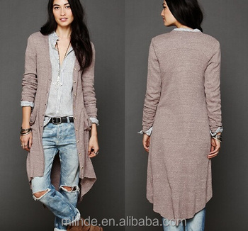 89d4e406a51d Ribbed maxi button up v-neck women cardigan with long sleeves two front  pockets for