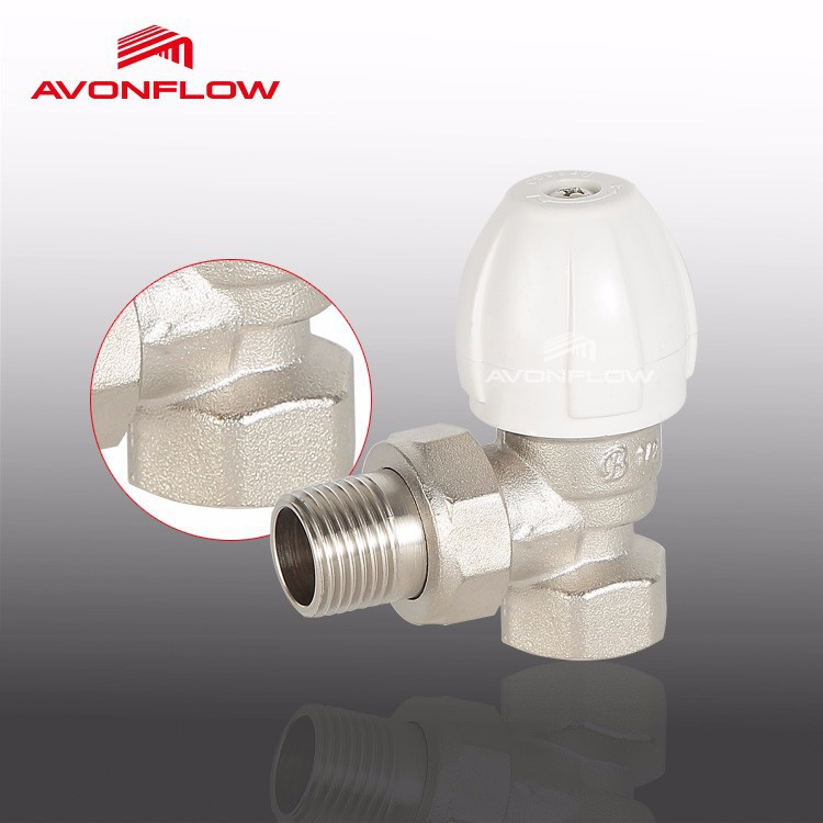 "Avonflow Water Flow Control Valve, Brass Angle Valve, 15mm x 1/2"", C00032"