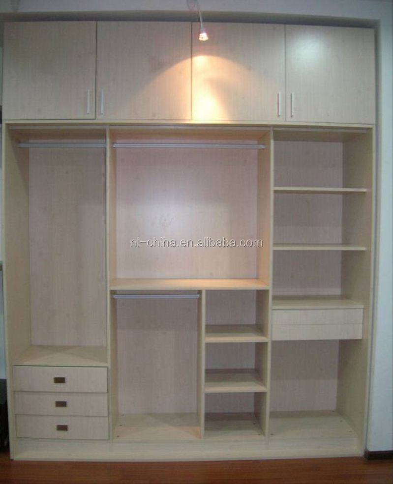 Barato moderno pvc melamina mdf gabinete armario walk in for Gabinete de almacenamiento dormitorio