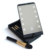 Crazy Hot Selling Multifunctional Battery Powered 360 Degree Rotation Led Light Makeup Mirror