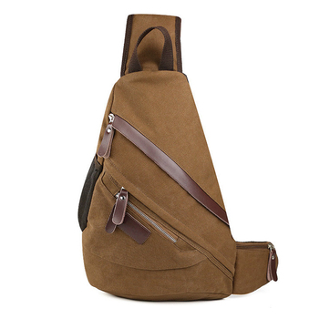 49b15e5118 Triple Zip Contrast Trim Sling Backpack Bag,Basic Pattern Boy Girls Junior  Triangle School Back Pack Bookbag Rucksack Daypack - Buy Sling Backpack ...