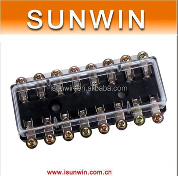 dc32v 8 way car auto circuit fuse box holder tube multiple fuse dc32v 8 way car auto circuit fuse box holder tube multiple fuse holder agc jso