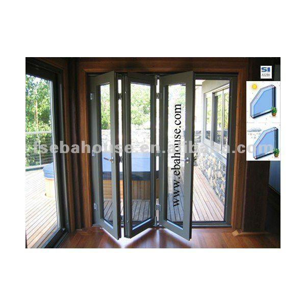 puertas de aluminio exterior de aluminio puerta corredera de patio 4 panel de puertas de patio