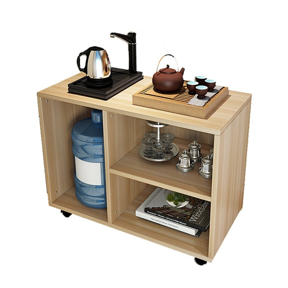 LQQGXL Storage and organization Simple wooden square table/sofa side table/bedroom bedside table size 40 40 50cm