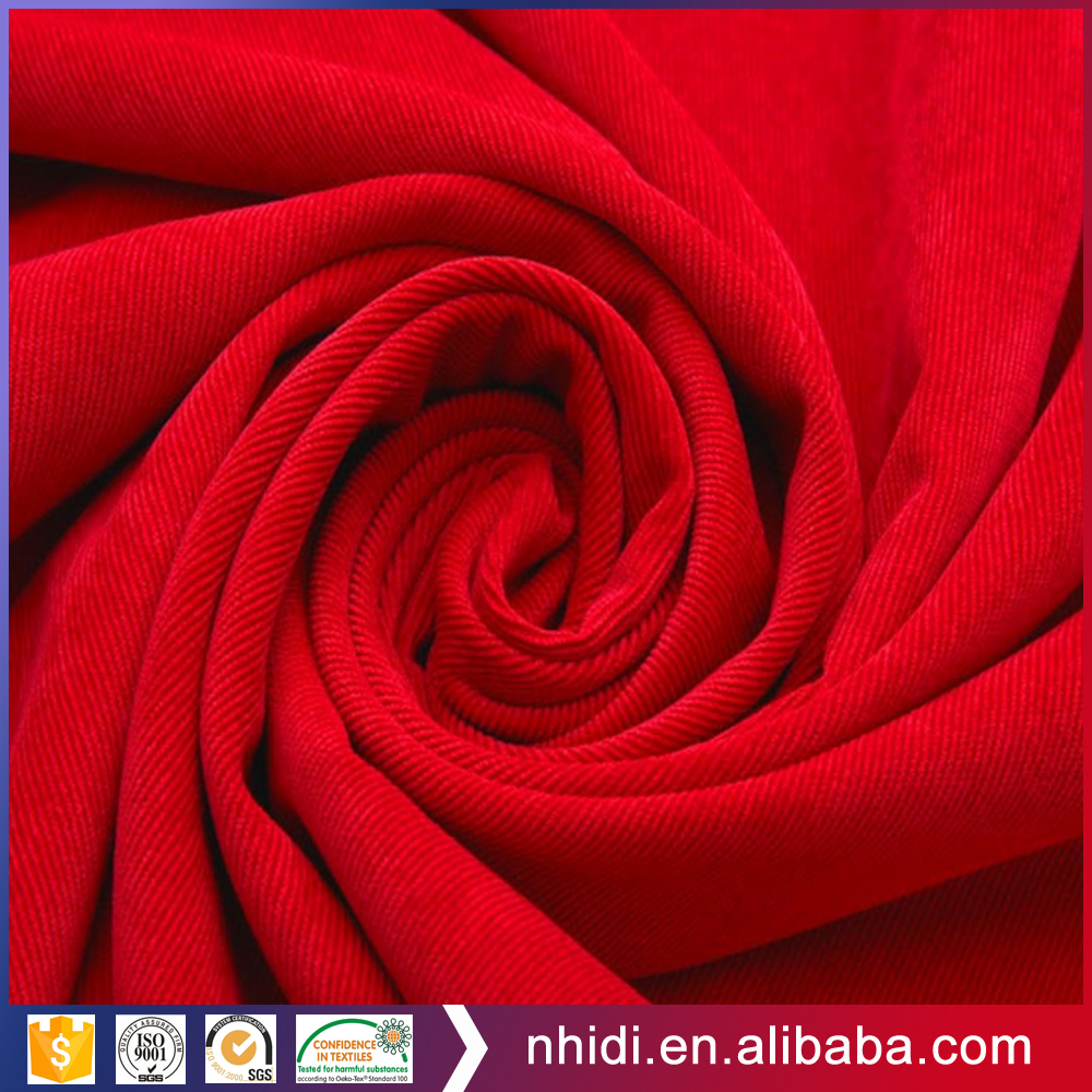 2017 China Factory 100% Cotton Plain Dyed Corduroy Apron Fabric