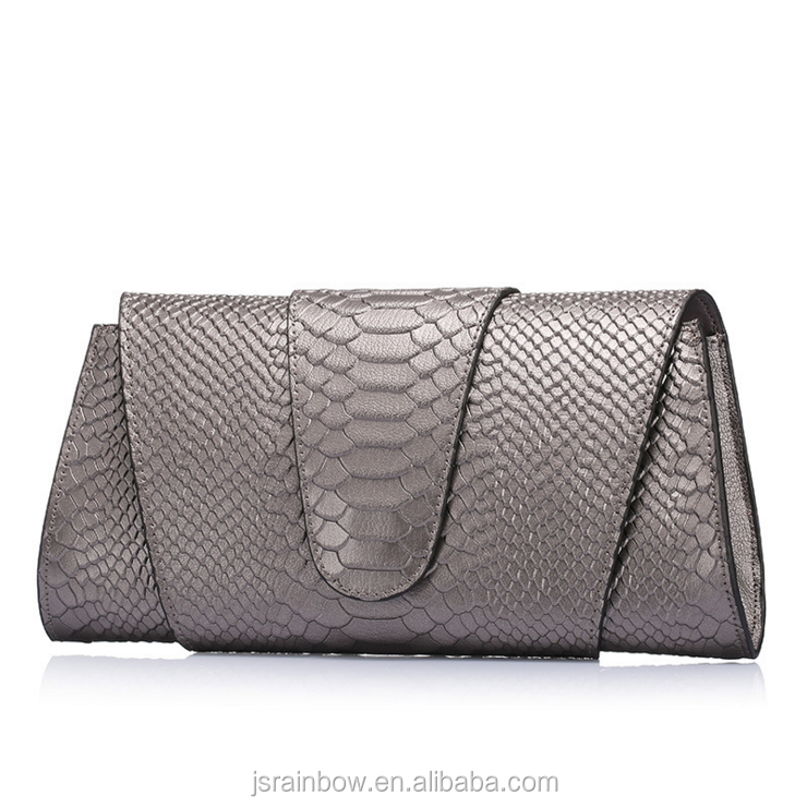 European Style Ladies' luxury Python Handbag Fashion Evening bag