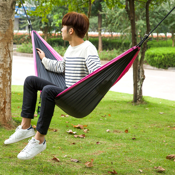 Outdoor Funny Garden Hammock One Person Black Color Sleeping Hammock Bag