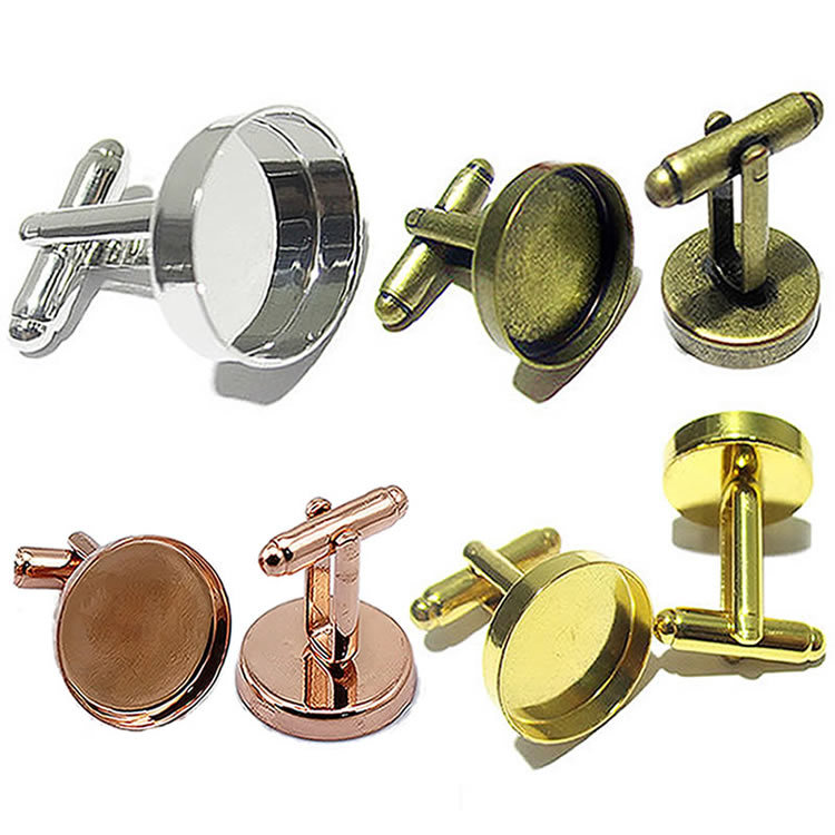 Beadsnice custom cufflink jewelry findings cufflinks blanks cufflink parts manufacturer ID10382