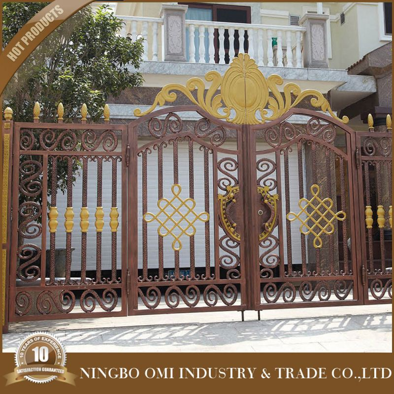 Made In China aluminum Gate Wrought aluminum Fence/modern indian house main gate designs/Good quality aluminium alloy swing gate
