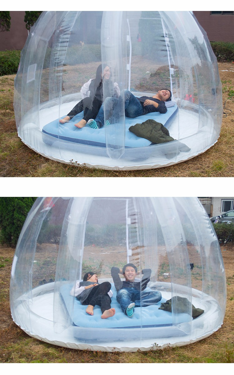 Outdoor Bubble Room - Lawn clear transparent igloo dome type greenhouse inflatable bubble tent outdoor camping plastic room hotel buble