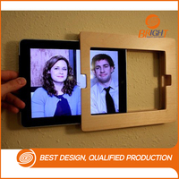 2015 New Arrival Convenient Wall Hanging Wooden Ipad Case Frame