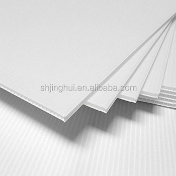 4mm White Correx Fluted Board A4 297 X 210 Correx Sheet Corrugated ...