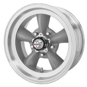 American Racing Custom Wheels VN105 Torq Thrust D Torq Thrust Gray Wheel With Machined Lip (14x6/5x114.3mm, -2mm offset) by American Racing