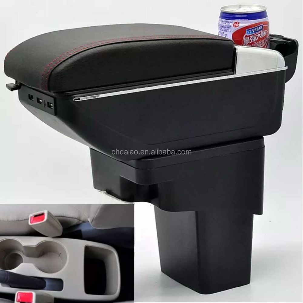 New Car Storage Box Armrest Centre Console Black for Korea car