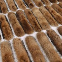 Factory price natural fox fur for hood, fox fur trim from China
