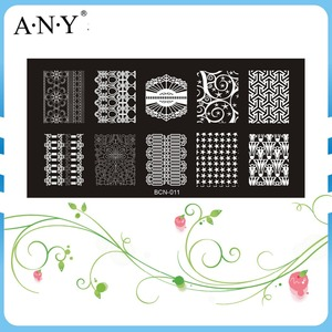 Nail Beauty DIY Design Permanent Using Nail Art Nail Stamp Metal Plates 6x12CM