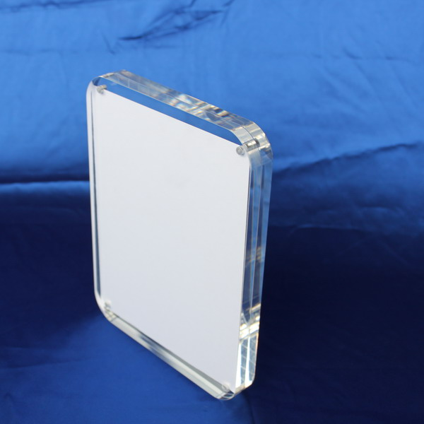 Wholesale custom clear acrylic 2*2/2*3/4*6/5*7/6*6/8*10 floating frameless picture frame acrylic block frame