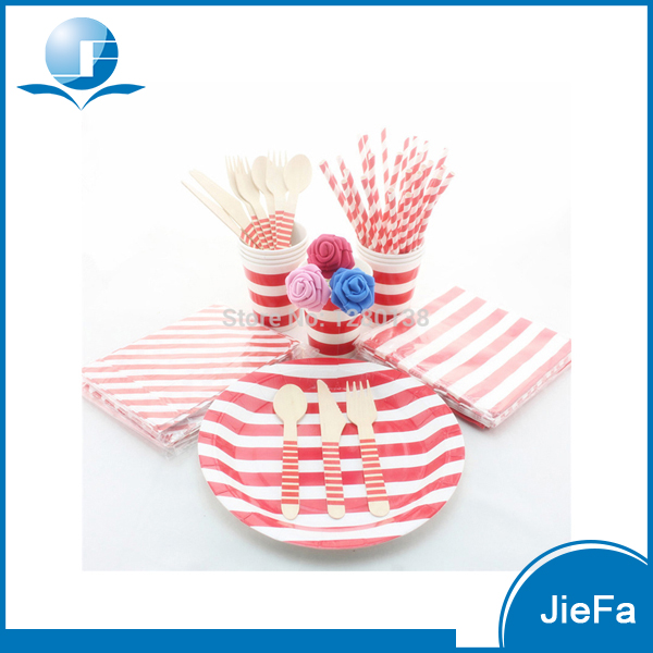 Fashion Design Safety Paper Party Serveware Kit