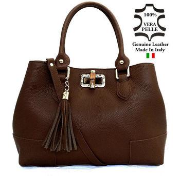 Leather Bags Handbag Made In Italy Art. 55 Italian Genuine Leather ...