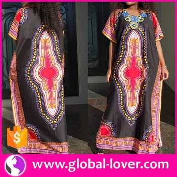 Wholesale Plus Size New Design Tribal Dashiki African Print Long Dress -  Buy Dashiki African Print Long Dress,New African Dresses,Tribal Print  Dresses ...