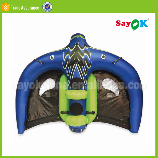 New blue inflatable flying manta ray for water game toy