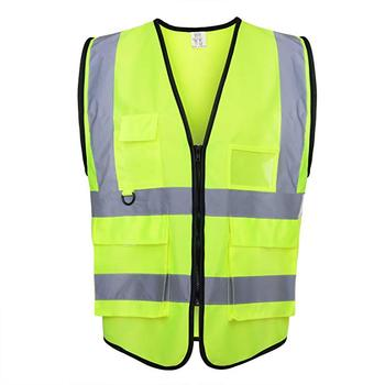 Wholesale customized traffic cheapest hot selling yellow safety for vest reflective safety vest