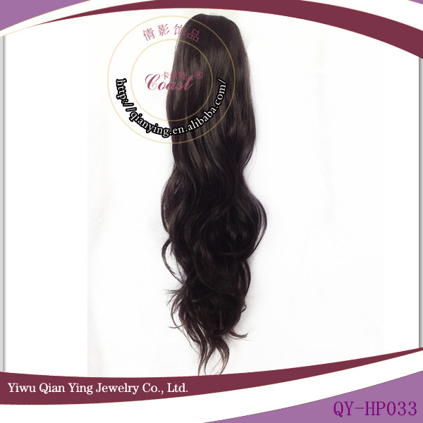 curly synthetic black claw clip ponytail hair extensions