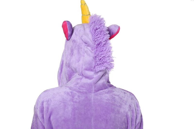 6852aaef49 Barato Kigurumi pijama unicornio Onesie pijamas franela púrpura Rosa  Cosplay para Animal pijamas de dibujos