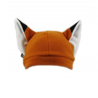 Hot sale cute fox ear animal hat fleece beanie hats funny women beanie