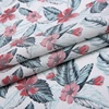 Most popular 55 linen 45 cotton floral digital print ladies textiles fancy fabric for evening dresses