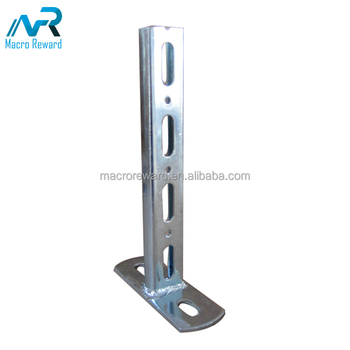 High quality welded stainless steel C-channel Bracket for office