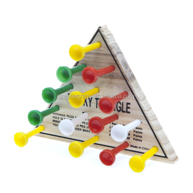 triangle peg board game buy wooden peg board game triangle wooden peg board game indoor peg. Black Bedroom Furniture Sets. Home Design Ideas