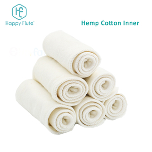 Happy Flute Newborn Hemp/Organic Cotton Inserts for Diapers Organic Baby Cloth Diaper Hemp Inserts
