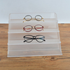 custom frosted 4 tiers tabletop acrylic sunglasses display