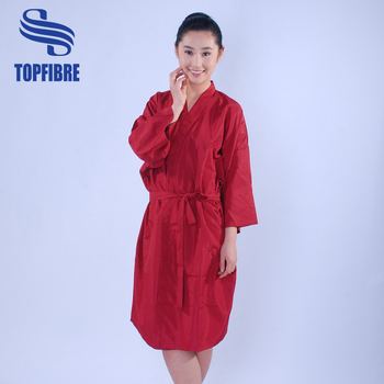 Red Color Salon Client Gown Hairdressing Gowns Kimono - Buy Hair ...