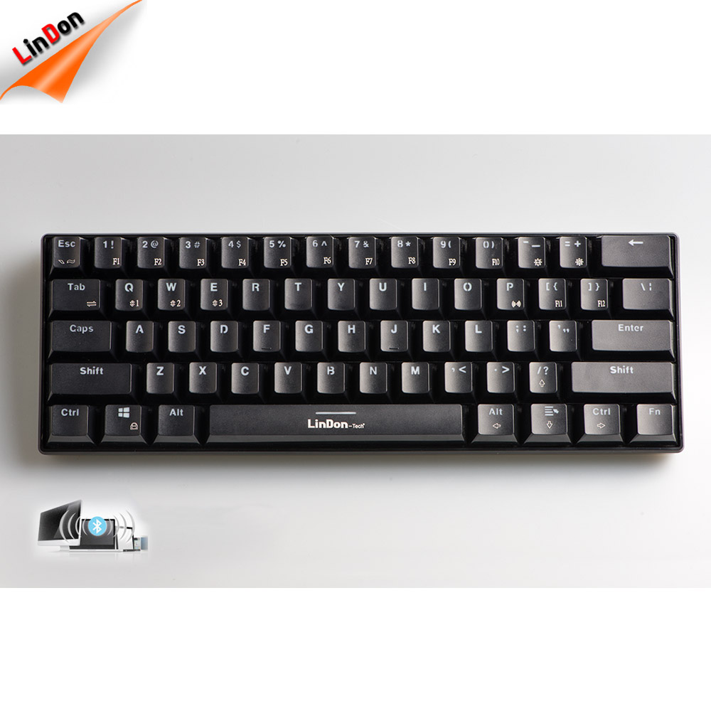 5261de81402 Double Injection Keycaps Mini Wireless Gaming Keyboard For Logitech LENOVO