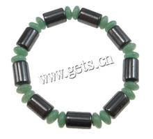 Magnetic Hematite 8x10mm bracelet tube