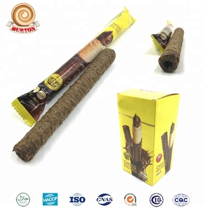 Chocolate center filling biscuit cookies crispy wafer rolls manufacturer