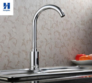 Lavatory Bathroom Brass Faucet Touch Free Automatic Sensor Tap