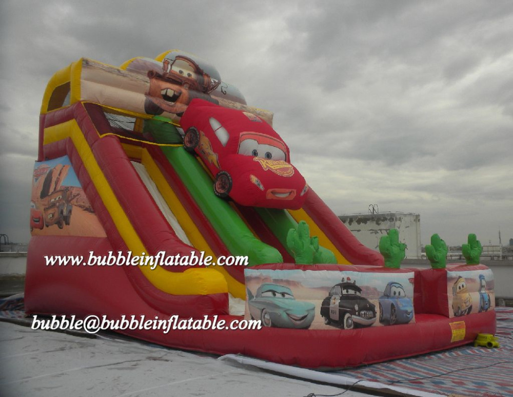 Cars Inflatable Slide, Giant Inflatables Commercial Quality for Rental Business